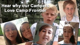 Why Do Campers Love Camp Frontier?