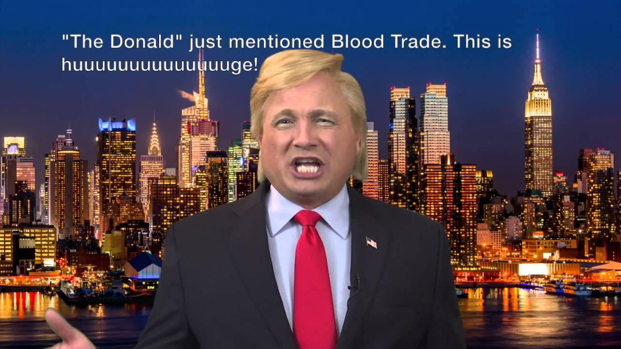 Donald Trump impersonator John Di Domenico promoting John ...