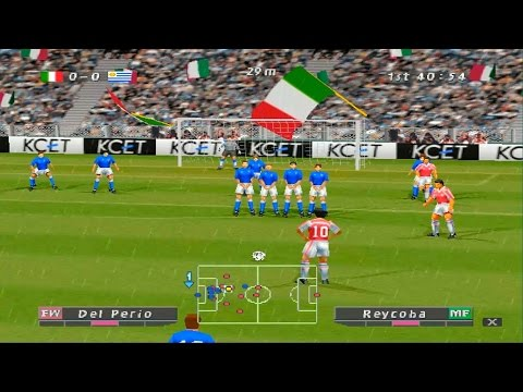 ISS Pro Evolution - 1999 PS1 GAMEPLAY- INTRO INCLUDED