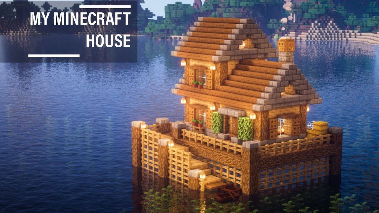 Minecraft: How to build a bungalow in the middle of the sea for survival   Minecraft Tutorial #11