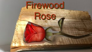 Carving A Wooden Rose From Curly Maple Firewood