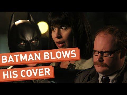 Batman Blows His Cover