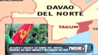 News@1: Security agency sa Davao del Norte, inatake ng mga umano