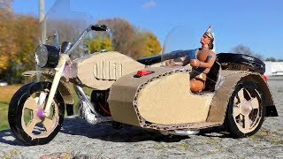 How to make DIY Motorcycle from cardboard at home