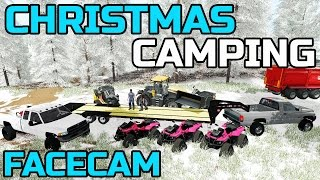FARMING SIMULATOR 2017 | CHRISTMAS CAMPING! | FACECAM | GIVEAWAY