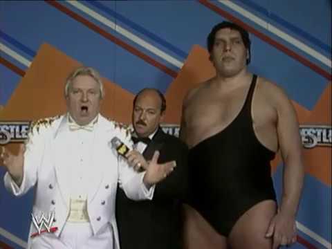 WWF WrestleMania 3 - Backstage With Gene Okerland, Andre The Giant & Bobby Heenan
