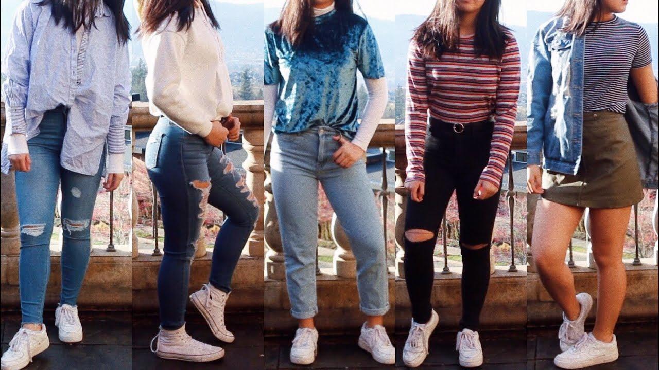 ootw  retro+trendy school outfit ideas - YouTube