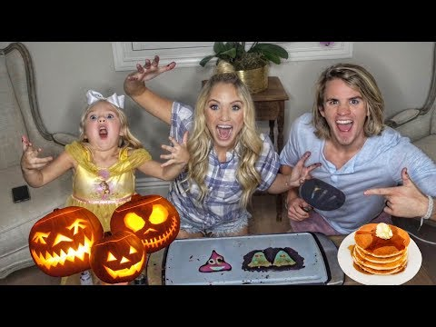 ULTIMATE HALLOWEEN PANCAKE ART CHALLENGE!!! DIY