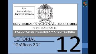 Tutorial 12 de MATLAB en español - Gráficos 2D