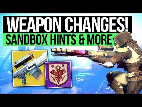 Destiny 2 News   FUTURE WEAPON BUFFS! - Sandbox Confirmation, Spring Patch & D1's Weapon System?