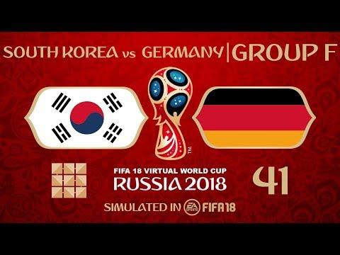FIFA 18 | Virtual World Cup 2018 Simulation 41 - South Korea Vs Germany | Group F