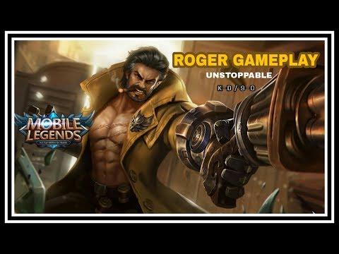 ROGER GAMEPLAY-ZERO DEATH | MOBILE LEGENDS