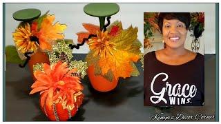 Fall $5 Dollar Tree DIYs | Easy Fall DIYs For $5 | DIY With Me | Thread Tank Tshirts