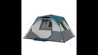 6-Person Instant CABIN TENT with built-in LED lights