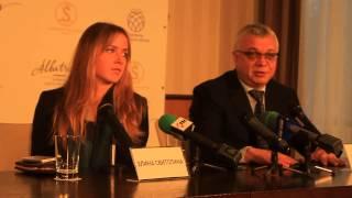 Пресс-конференция Элины Свитолиной и Юрия Сапронова