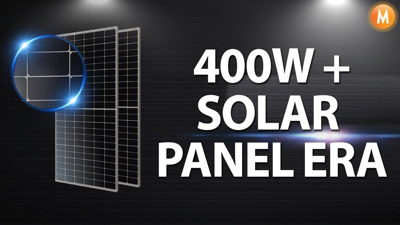 Ja Solar 400w Half Cell Perc Mono Solar Panel Youtube
