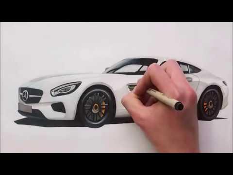 CÁCH VẼ  Mercedes Benz AMG ĐẸP