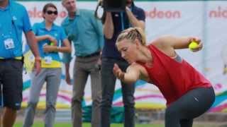 Maria Sharapova Suncorp Ballkid Training - Brisbane International 2014