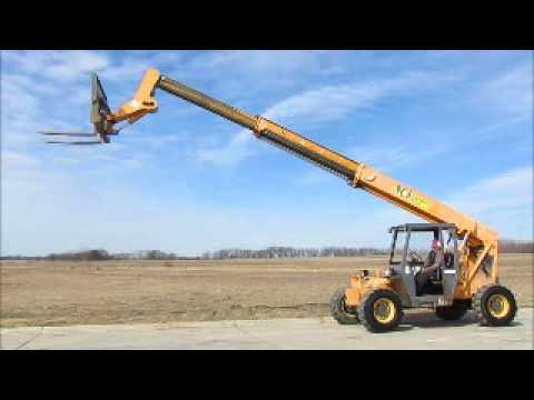 Sold! 2005 Mustang 634 6,000 LB Telescopic Reach Forklift bidadoo.com