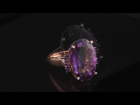 20.64 Carat, Unheated & Untreated Russian Amethyst, Loupe Clean - The David Jerome Collection