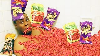 TAKIS CHALLENGE!! EATING FUEGO XTREME SPICY CHIPS   MUKBANG