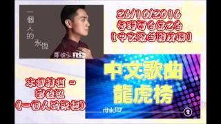 20161026 香港電台第2台【中文歌曲龍虎榜】本週精選 ~ 鄭俊弘《一個人的永恆》