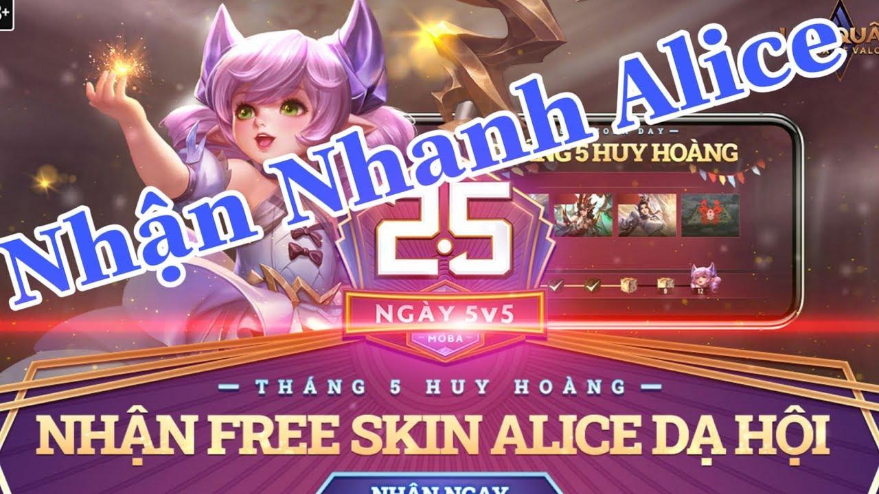 Liên Quân Mobile: Cách Nhận Free skin Alice Dạ Hội cùng giúp nhau nhé | Xuyên Cùi Mía