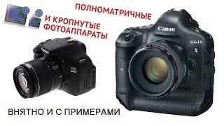 Школа фотографии. Видеоурок 2: Полноматричные и кропнутые фотоаппараты