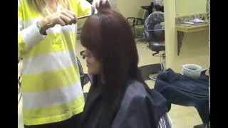 Master Stylist Kristy Nichole Demonstrating Beta Keratin Hair Straightening
