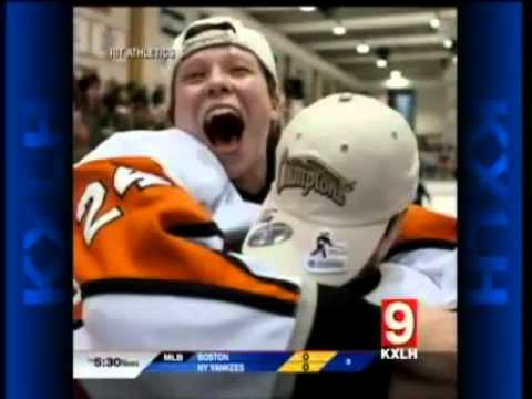 RIT on TV: RIT Women's Hockey player profiled on KXLH