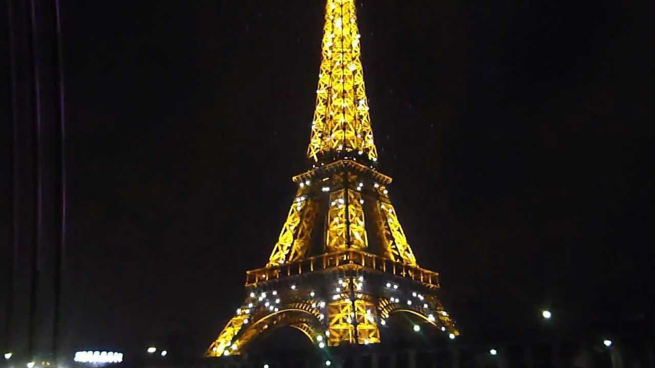 10 la torre eiffel di notte tutta illuminata youtube