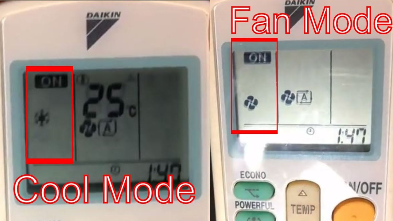 What Is Mode Button In Daikin Ac Remote Youtube