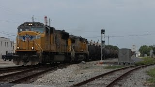 (HD) 3 Trains at Pascagoula, MS 7-13-2014