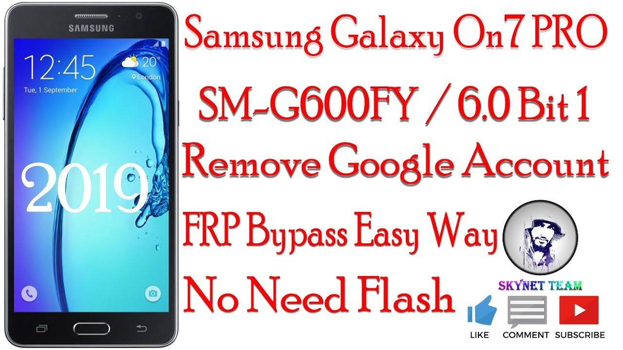 Samsung Galaxy On7 PRO SM-G600FY Android 6.0 Remove Google Account  FRP Bypass Easy Way