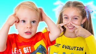 Head Shoulders Knees and Toes children song | Learn body parts with Sunny Kids Songs