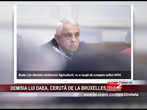 DEMISIA LUI DAEA, CERUTĂ DE LA BRUXELLES