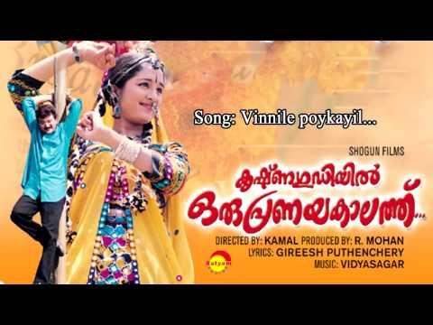 Vinnile poykayil - Krishnagudiyil Oru Pranayakalathu