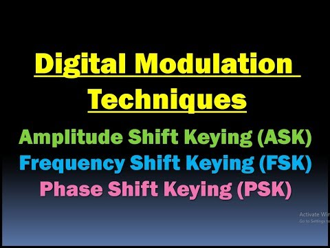 ASK FSK PSK Modulation/Digital Modulation Techniques/Amplitude, Frequency and Phase Shift Keying