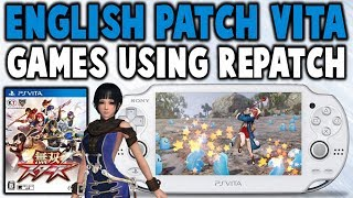 Patch PS Vita Games Into English Using RePatch!