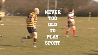 Never too old to play rugby.