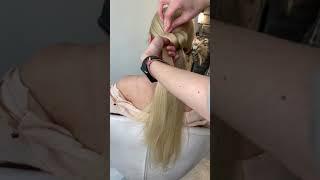 Пучок из волос Прическа Быстрые прически Лёгкие прически Укладка за 5 минут Пучок из прямых волос