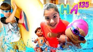 Hayal Ailesi Polen Adrian ve çocukları havuza gidiyorlar Eğlenceli çocuk dizisi