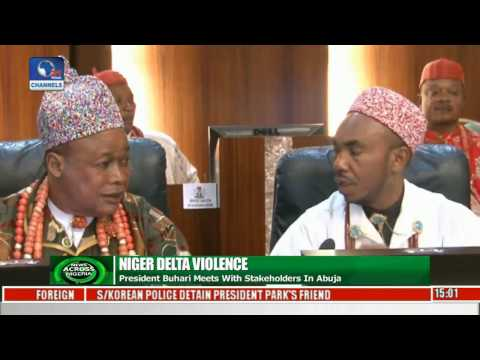 News Across Nigeria  Buhari Meets N.Delta Stakeholders In Abuja