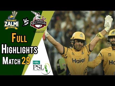 Full Highlights | Peshawar Zalmi Vs lahore Qalandars  | Match 29 | 16 March | HBL PSL 2018