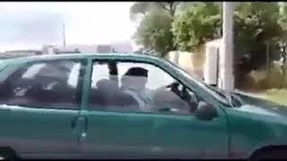 عندما تتعلم المرأة السياقة تكون هذه النتيجة..  نااااااري مي الطونبيل تعجنت