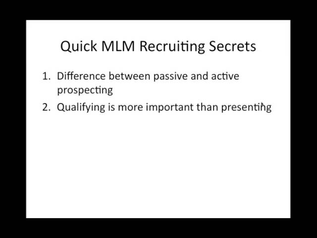 MLM Recruiting Secrets with Ray Higdon #1