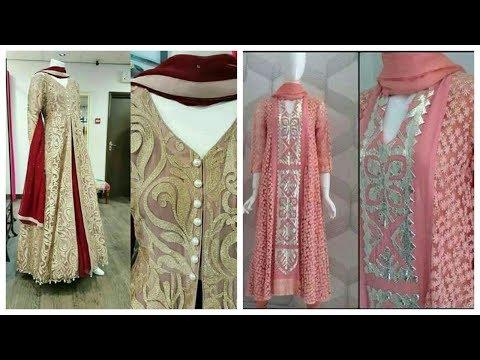 Latest beautifull stylish appliqué work dresses designs collection