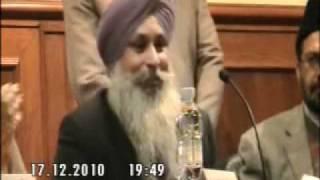 Discurso de Don Lab Singh Sahib Presidente de Guru Nanak Asociación en Valencia