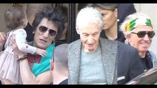 The Rolling Stones Ron Wood, Charlie Watts, Keith Richards @ Paris 19 october 2017 / octobre