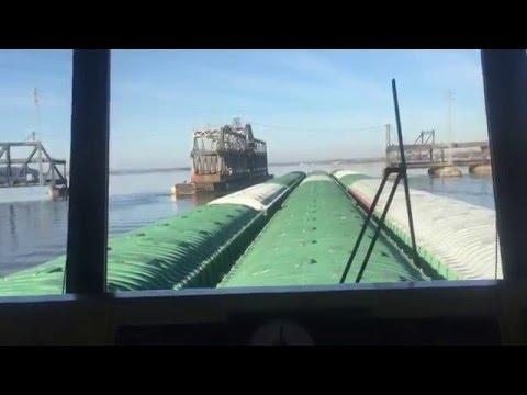 Fort Madison, Iowa turntable bridge southbound